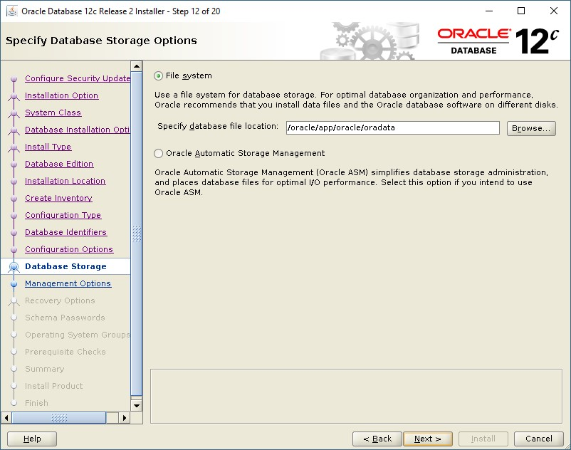 Steps to Install Oracle Database 12c Release 2 in Redhat Linux 7 5